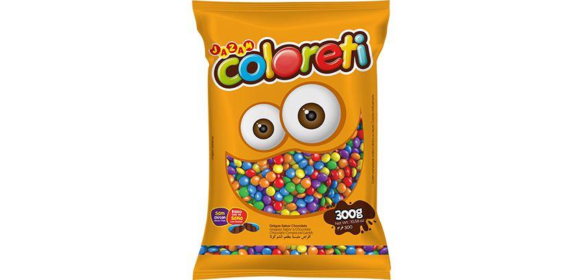 Pastilha Coloreti Mini Sortido Jazam 300g