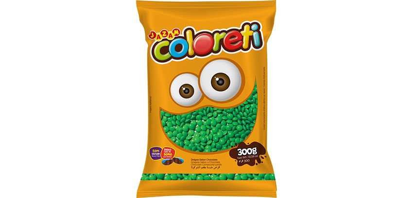 Pastilha Coloreti Mini Verde Jazam 300g