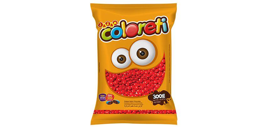 Pastilha Coloreti Mini Vermelho Jazam 300g