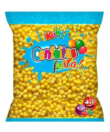 Confeitos Festa Amarelo Abacaxi Kuky 500g