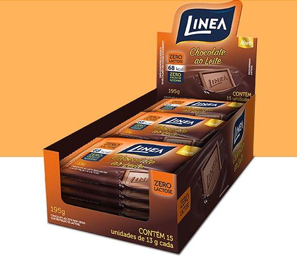 Chocolate Mini Barra Ao Leite Zero Lactose Linea 195g