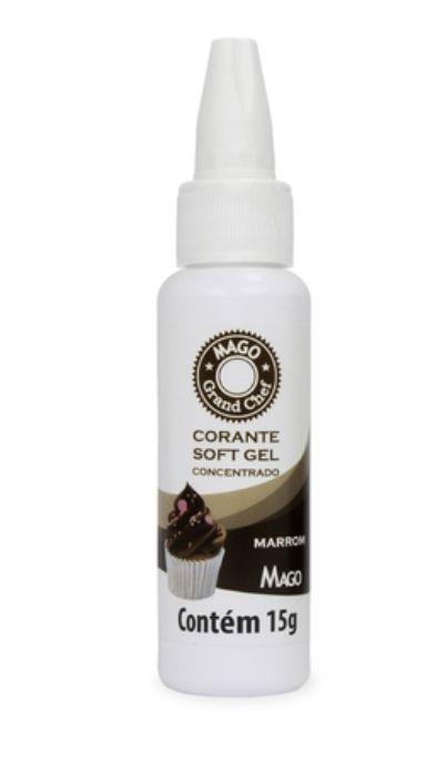 Corante Soft Gel Marrom Mago 15g