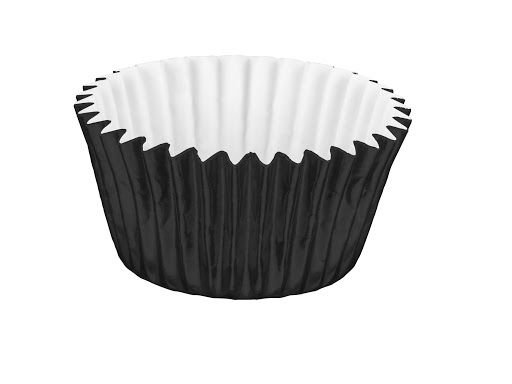 Forminha Cupcake Metalizada Preta Mago Nº0 c/ 50 unid.