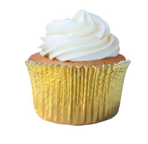 Forminha Mini Cupcake Ouro Nº2 c/ 50 unid.