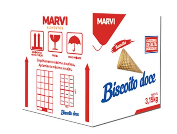 Casquinha Biscoito Doce Saches Marvi  30x10 unid