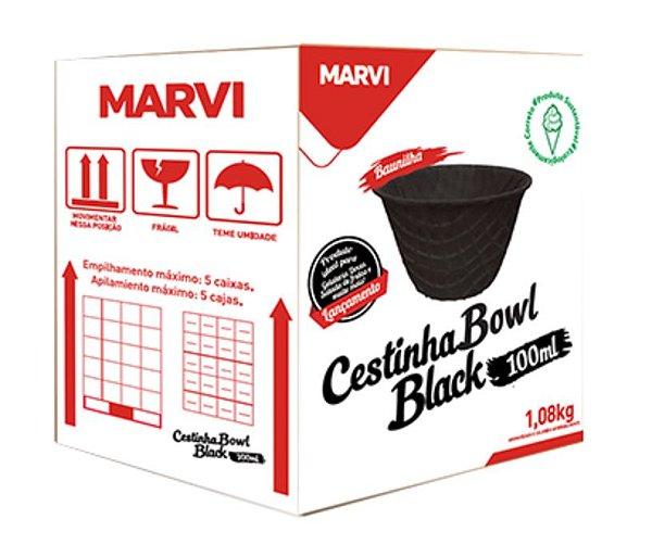Cestinha Bowl Black Mini Marvi 100ml c/ 120 unid.