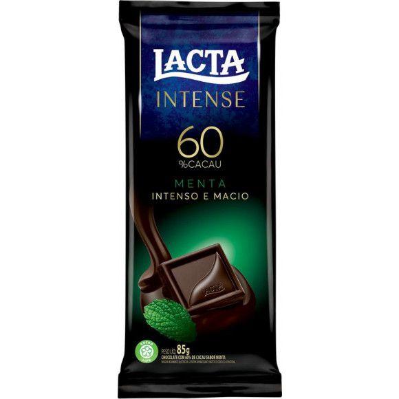 Chocolate Lacta Intense 60% menta Mondelez 85g