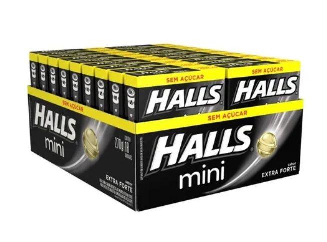 Drops Halls Mini Zero Extra Forte Mondelez 270g