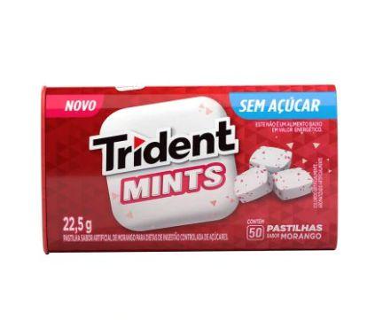 Pastilha Tridente Mints Morango Mondelez  202,5g 9unid.