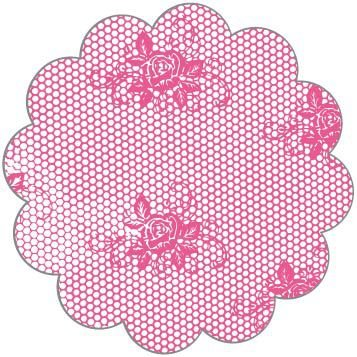 Fundo para Doces Renda Pink 9 cm - 100 unid.