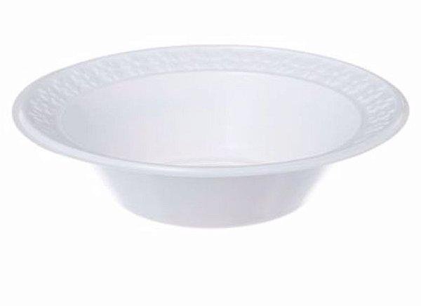 Prato Fundo Descartável Branco 21cm - 10 unid