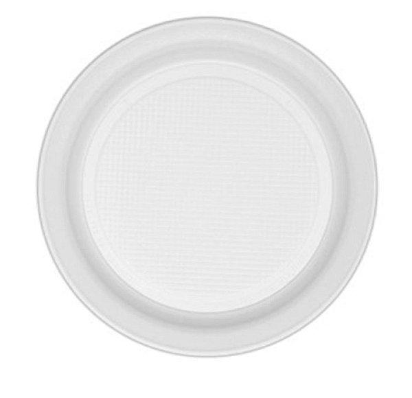Prato Raso Descartável Branco 18cm - 10 unid