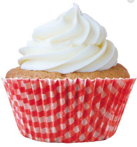 Forminha Mini Cupcake Xadrez Vermelho Nº2 c/45 unid