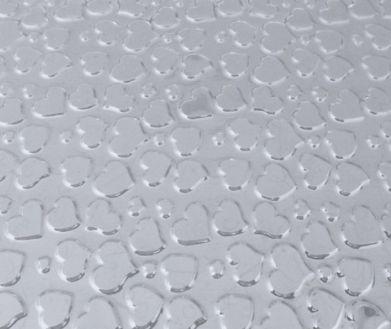 Placa de Textura Coração BWB 50 cm x 23 cm