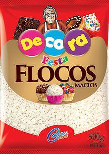 Flocos Macios de Chocolate Branco Cacau Foods 500g