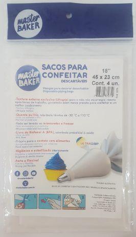 """Sacos para Confeitar Master Baker 18"""" 45cm x 23cm c/4"""
