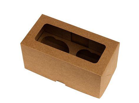 Caixa para CupCake Kraft Decora  2 cavidades  c/5 und