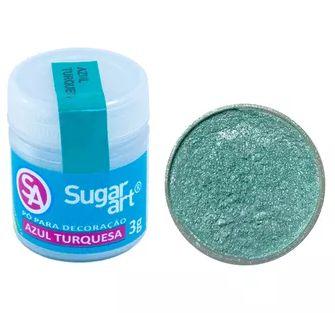 Pó para Decoração Azul Turquesa Sugar Art 3g