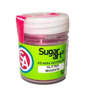 Pó para Decoração Glitter Magenta Sugar Art 5g