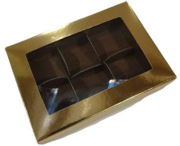 Caixa para Bombom c/ Tampa Ouro Patchii n°6