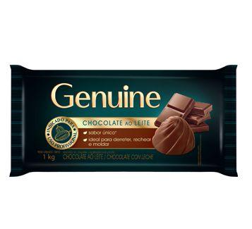 CHOCOLATE AO LEITE GENUINE 1KG