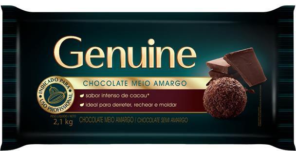 CHOCOLATE MEIO AMARGO GENUINE 2,1KG