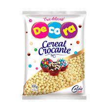 Cereal Crocante Mini branco Decora 500g