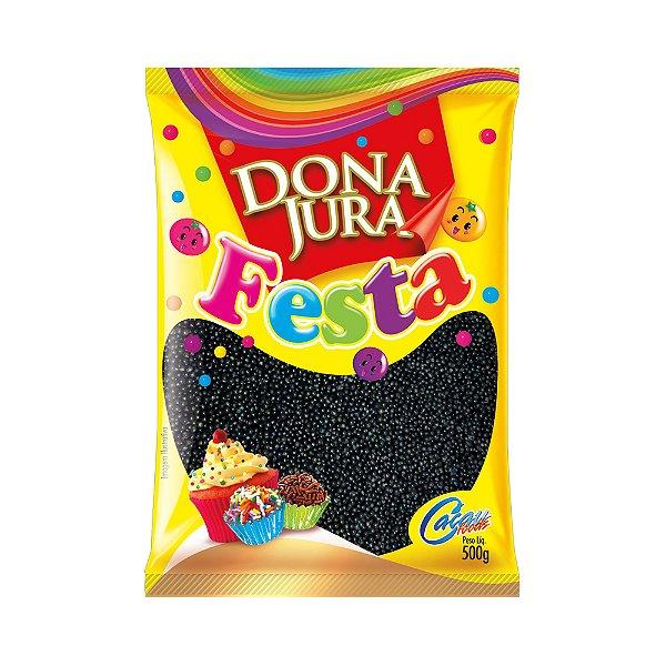Miçanga Crocante Preta Dona Jura 500g