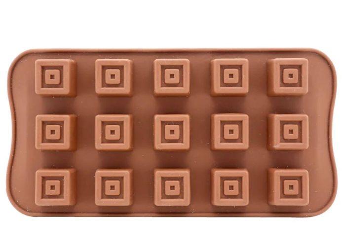 Forma Silicone Quadrado Yazi