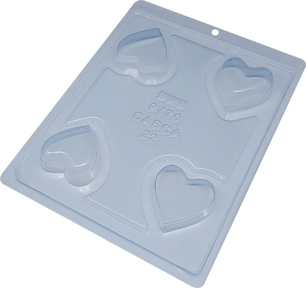 Forma Silicone Mini Porta Joia Coração - BWB 9770