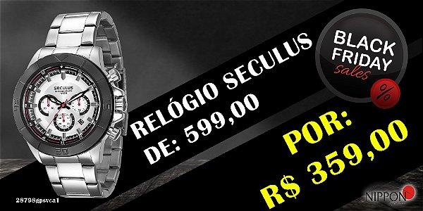 Relógio Masculino Seculus Cronógrafo 28798GPSVCA1