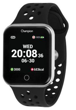 Relógio Champion Smartwatch Prata Com Pulseira Preta CH5006T