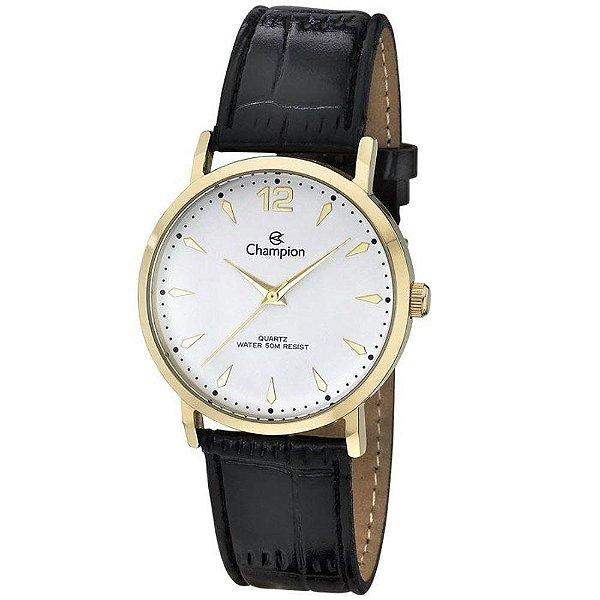 Relógio Champion Feminino Couro Preto CH24062M