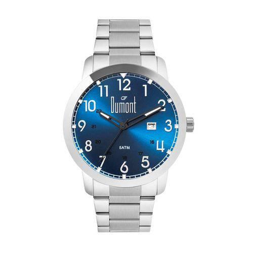 Relógio Dumont Masculino Ref: Du2115aad/4a Casual Prateado