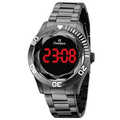 Relógio Feminino Champion Digital CH48073C - Chumbo
