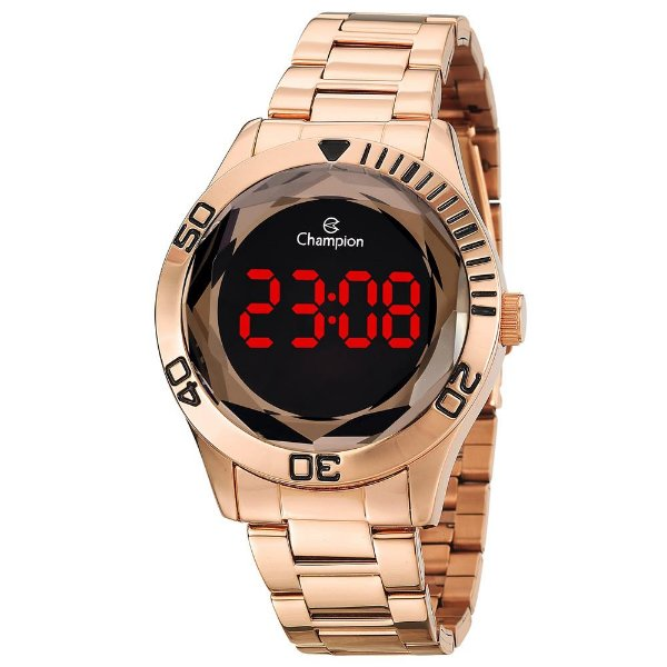Relógio Feminino Digital Champion CH48073Z - Rosê