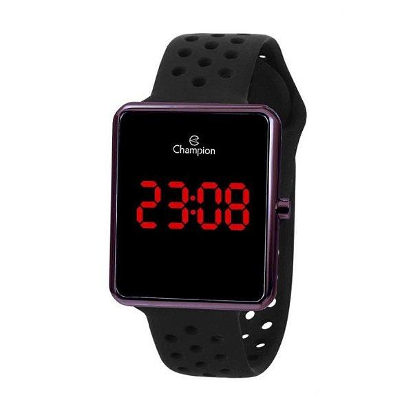 Relógio Feminino Marrom Champion Digital Pulseira Resina
