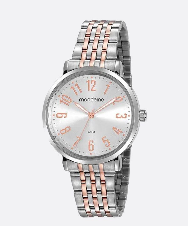 Relógio Mondaine Prata com Rosé 32107LPMVGE2