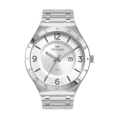 Relógio Technos Masculino Ref: 2117lbt/1k Executive Prata