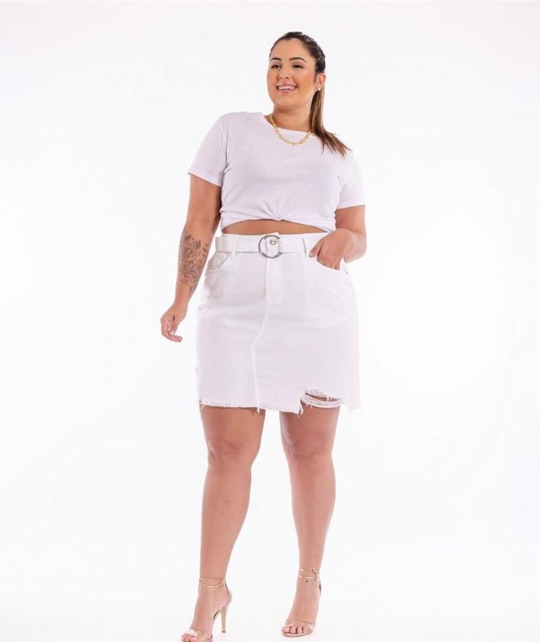 SAIA BLUBETTY MOM FIT BRANCO