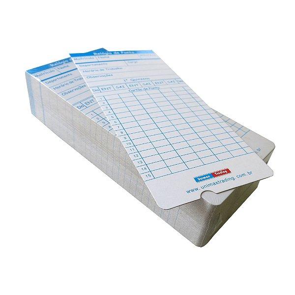 Cartão de ponto - Pacote com 100 unidades
