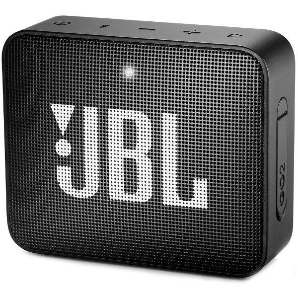 Caixa de som JBL GO 2 Preto - Bluetooth | À Prova D'Água - 1 ano de garantia