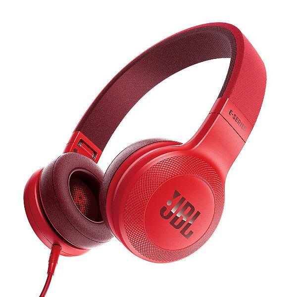 Fone de ouvido JBL E35 com fio   Vermelho - 1 ano de garantia