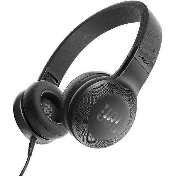 Fone de ouvido JBL E35 com fio | Preto - 1 ano de garantia