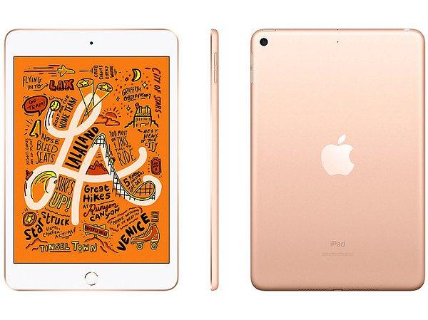 iPad mini Apple, Tela Retina, 64GB, Dourado, Wi-Fi + Celular (2019)