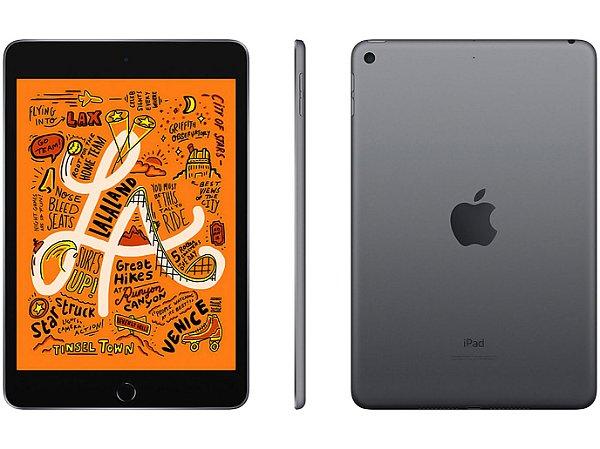 iPad mini Apple, Tela Retina, 64GB, Cinza Espacial, Wi-Fi + Celular (2019)