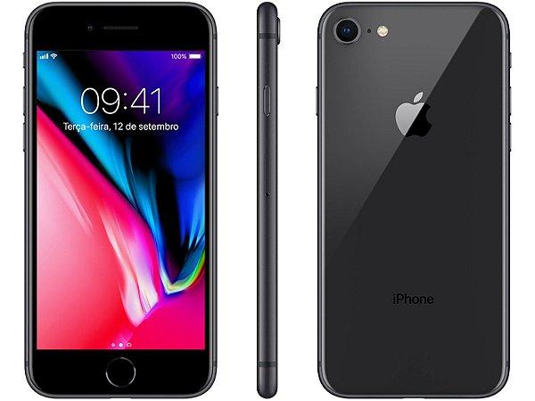 "iPhone 8 Apple 64GB | Tela Retina 4,7"" -  Câm. 12MP + Selfie 7MP -  Resistente à Água"