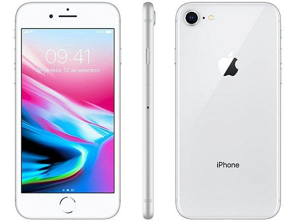 "iPhone 8 Apple 64GB   Tela Retina 4,7"" -  Câm. 12MP + Selfie 7MP - Resistente à Água"