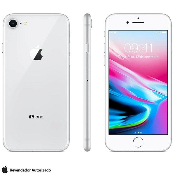"iPhone 8 Apple 128GB | Tela Retina 4,7"" -  Câm. 12MP + Selfie 7MP -  Resistente à Água"