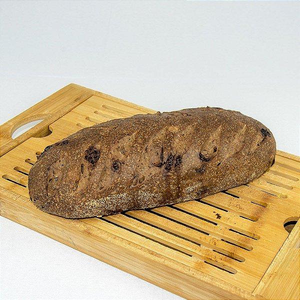 Pão de cacau com chocolate belga e amêndoas